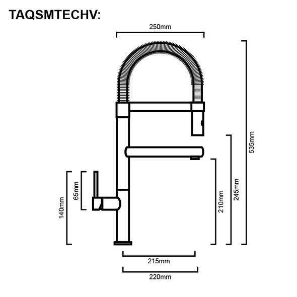 Tech - Chrome Veg Spray Sink Mixer