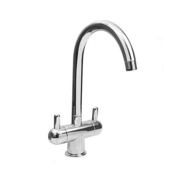 Aquila Nuvola - Chrome Gooseneck Twinner Sink Mixer