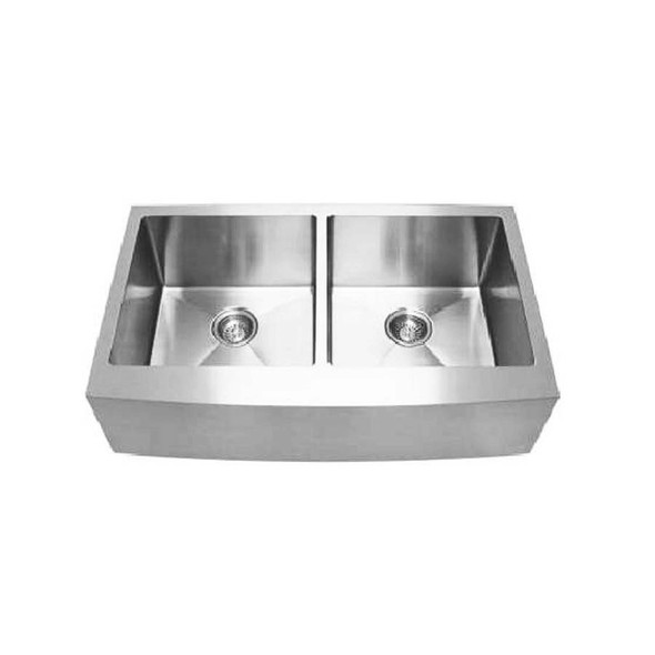 Colonial - Belfast Double Stainless Steel Sink Curved