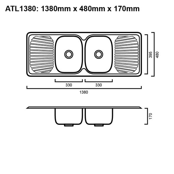 Atlantic 1380 - Inset Sink