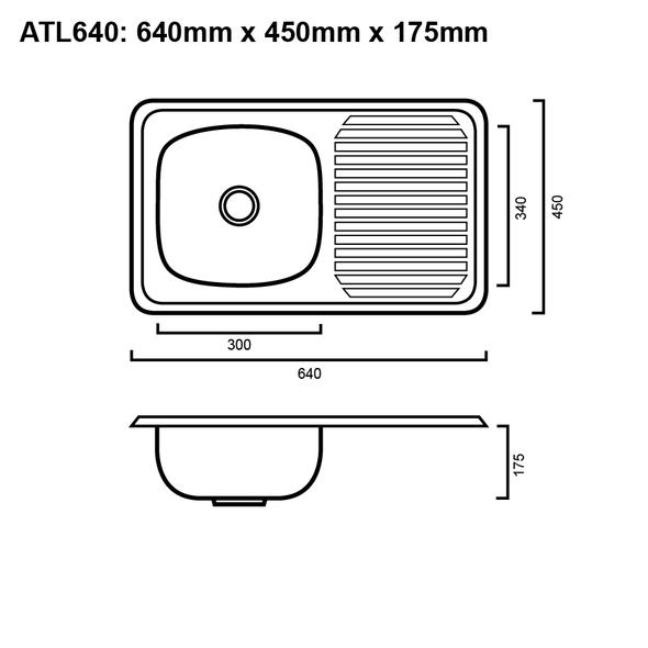 Atlantic 640 - Inset Bar Sink