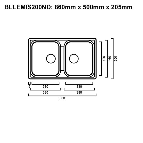 Blanco Lemis 200 - No Drainer Inset Sink