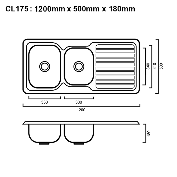 Classic 175 - Inset Sink