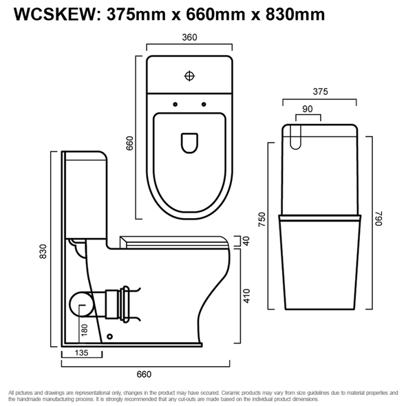 Skew - Back To Wall Toilet Suite