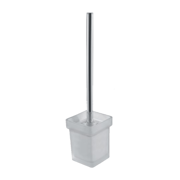 Que - Chrome Toilet Brush and Holder