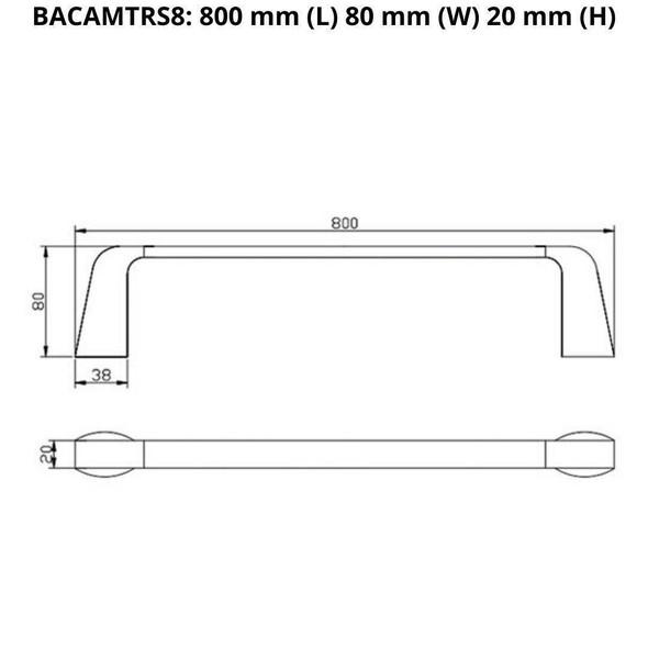 Cam - Chrome Single Towel Rail 800mm