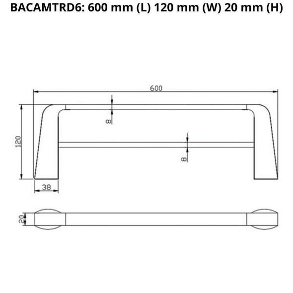 Cam - Chrome Double Towel Rail 600mm