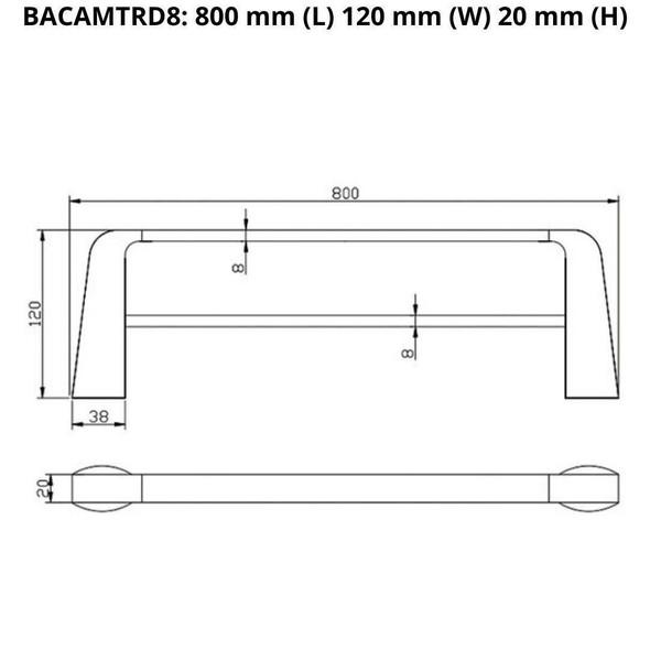 Cam - Chrome Double Towel Rail 800mm