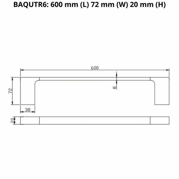 Que - Chrome Single Towel Rail 600mm