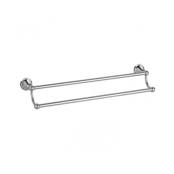 Roma - Chrome Double Towel Rail 800mm