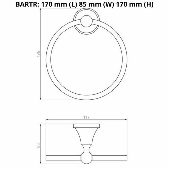 Roma - Chrome Towel Ring