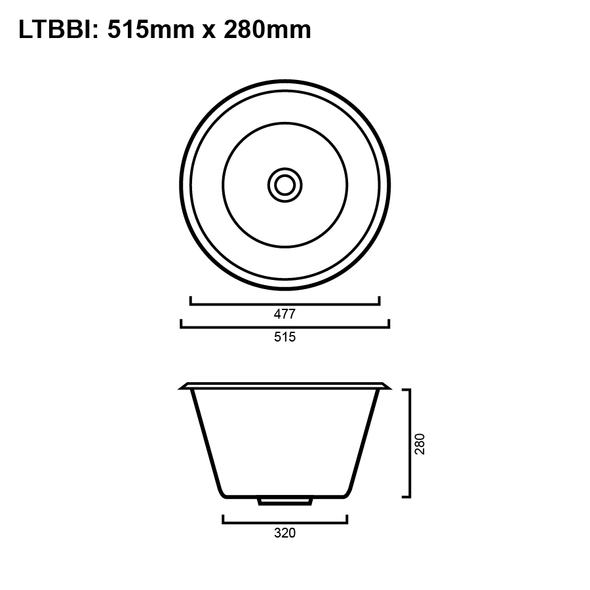 Belle - Laundry Bowl Trough 36L