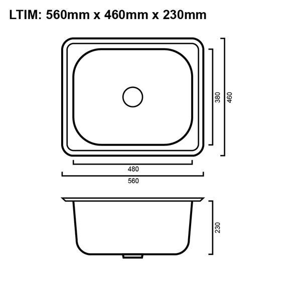 Mini - Inset Laundry Trough 35L