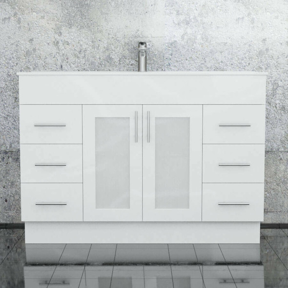 Cube - Floor Mounted Vanity and Top 1200mm