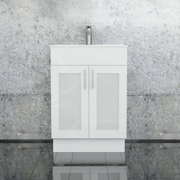 Cube - Floor Mounted Vanity and Top 600mm