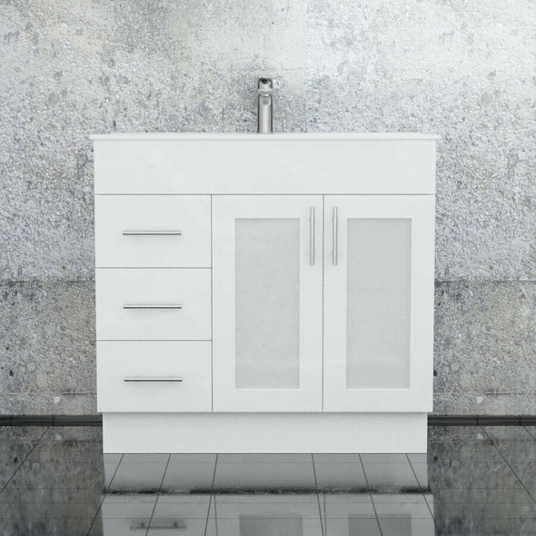 Cube - Floor Mounted Vanity and Top 900mm