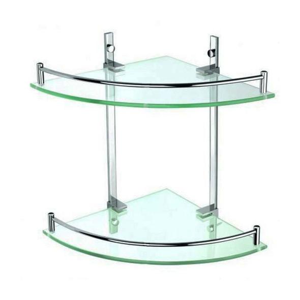 Roma - Double Glass Corner Shelf