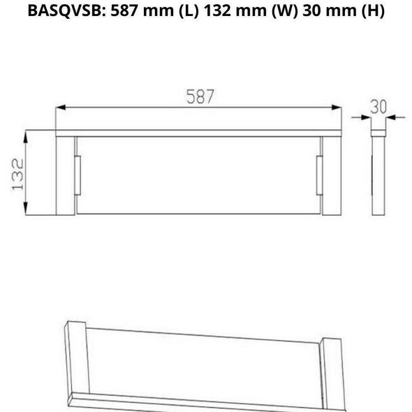 Square - Black Vanity Shelf