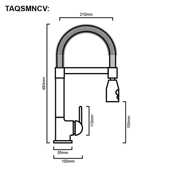 Nuvola - Chrome Veg Spray Sink Mixer