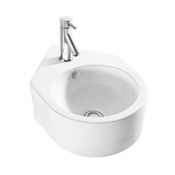 Rondo - White Wall Hung Basin