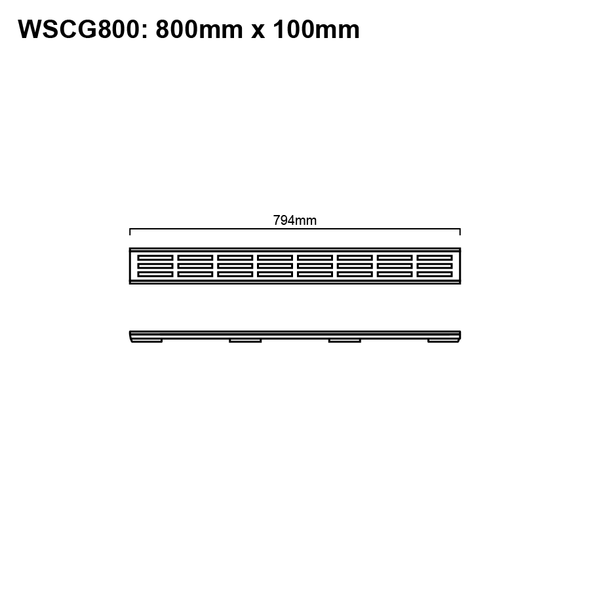 Floor Channel With Grate 800mm