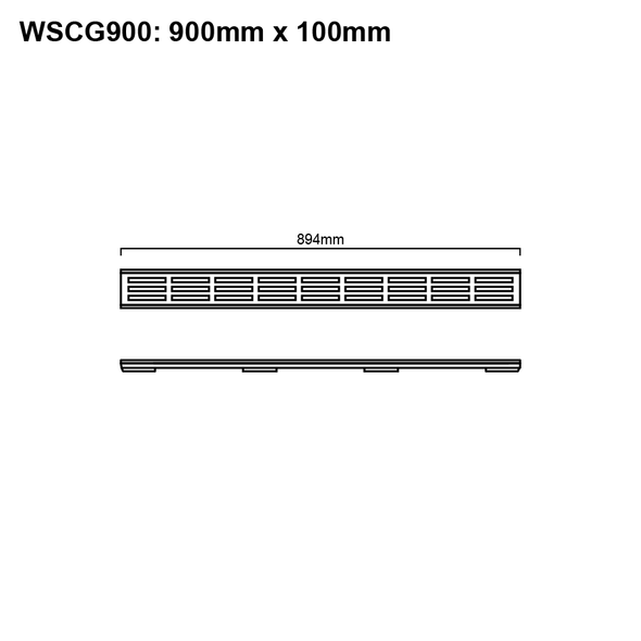 Floor Channel With Grate 900mm