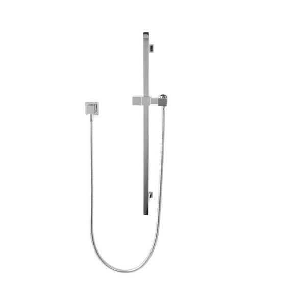 Quadro - Chrome Shower Rail Set