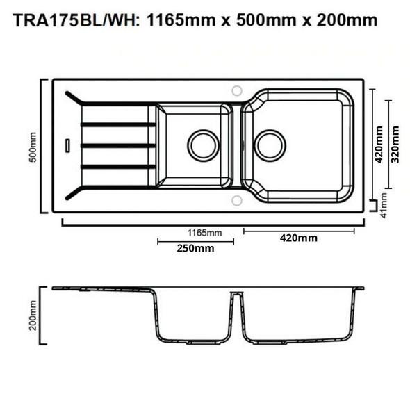 Traviata 175 - Granite Sink
