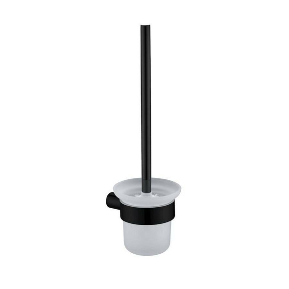 Saturn - Black Toilet Brush and Holder