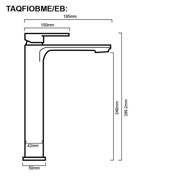 Fiona - Chrome Extended Basin Mixer