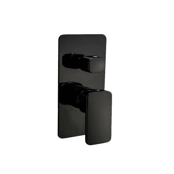 Fiona - Black Bath/Shower Mixer With Diverter