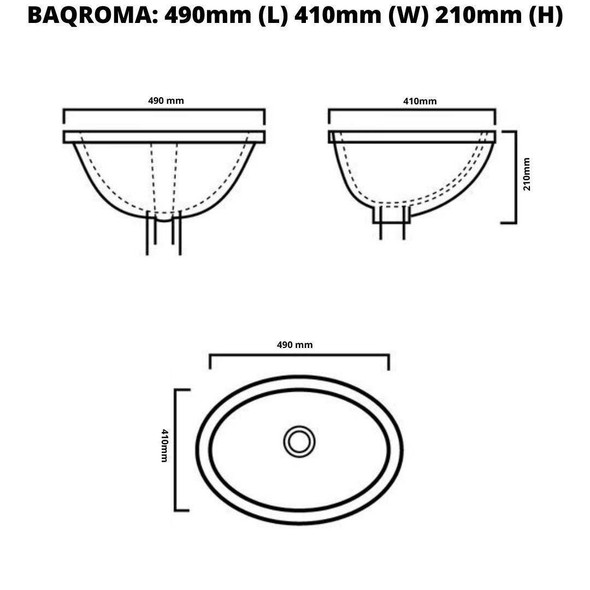 Roma - White Undermount Basin