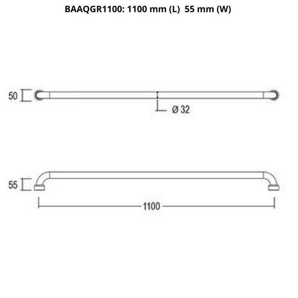 Aquila - Chrome Grab Rail 1100mm