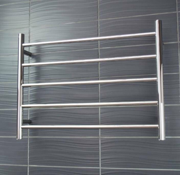 Non-Heated Towel Rail - Round 5 Bar 750x550mm
