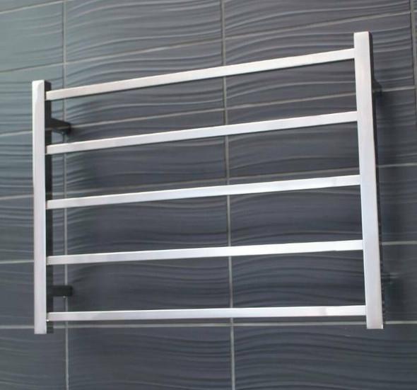 Non-Heated Towel Rail - Square 5 Bar 750x550mm