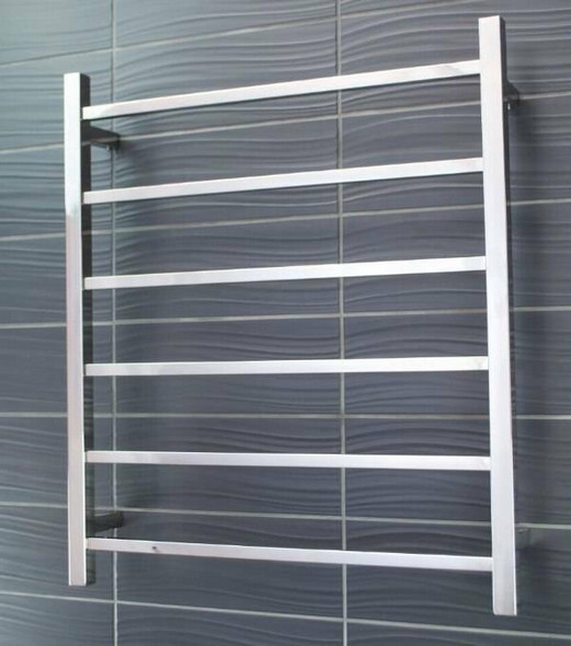 Non-Heated Towel Rail - Square 6 Bar 700x830mm