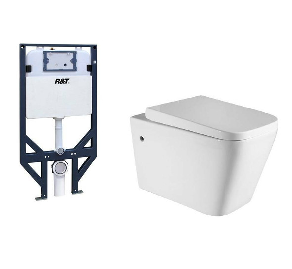 Hague - Concealed Wall Hung Toilet Suite