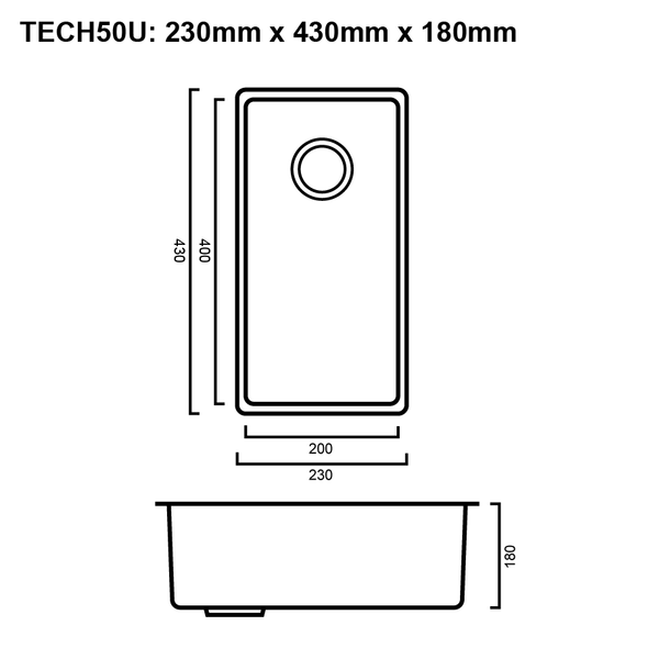 Tech 50U - Stainless Steel Undermount Sink