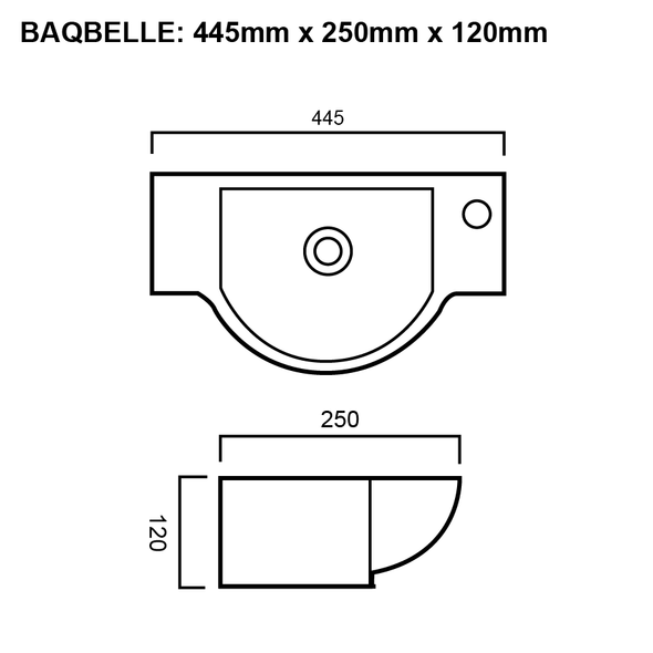 Belle - White Wall Hung Basin