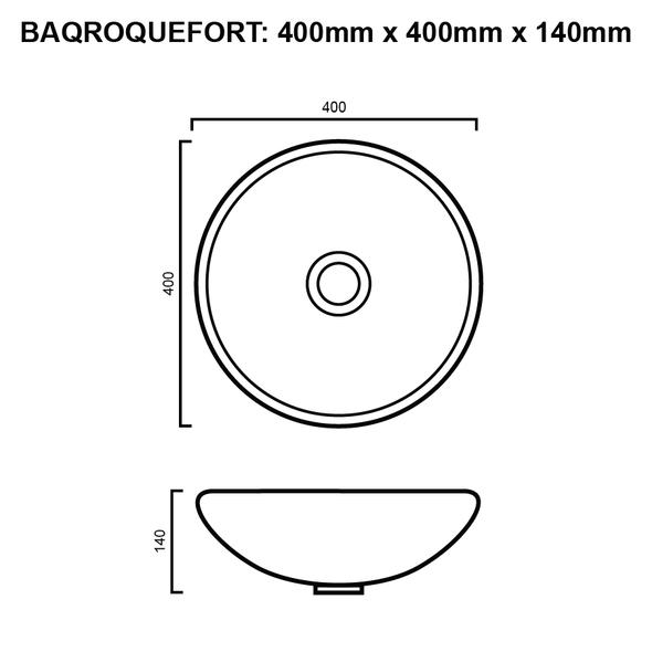 Roquefort - Matte Black Above Counter Basin