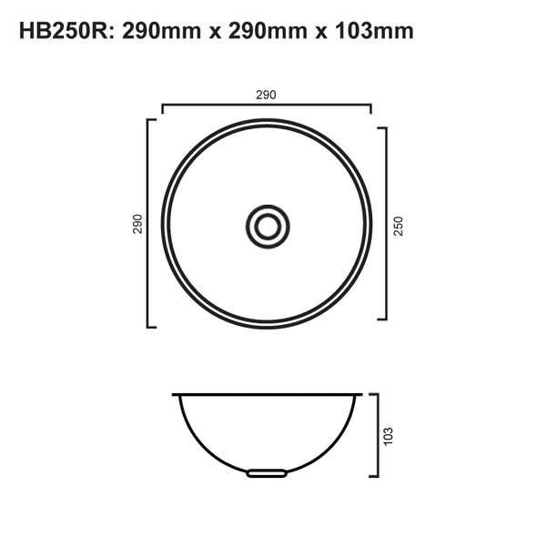 HB250R - Round Stainless Steel Hand Basin