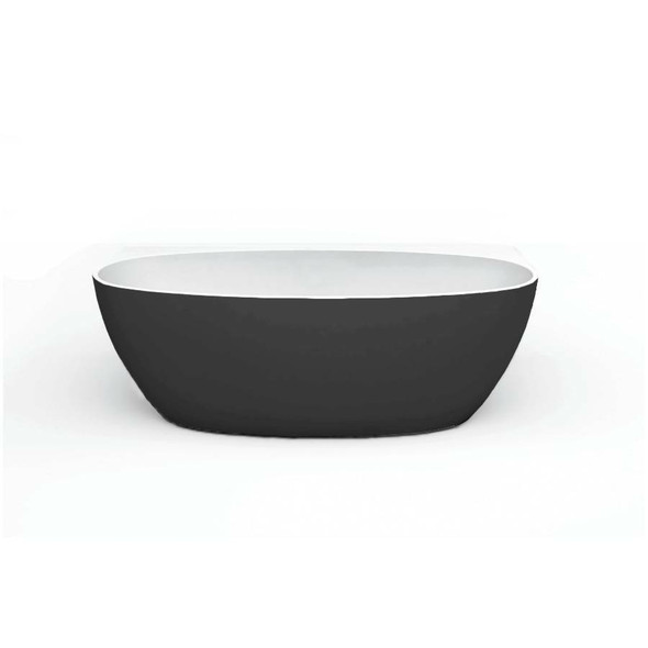 Ava - Black Freestanding Bath 1500mm