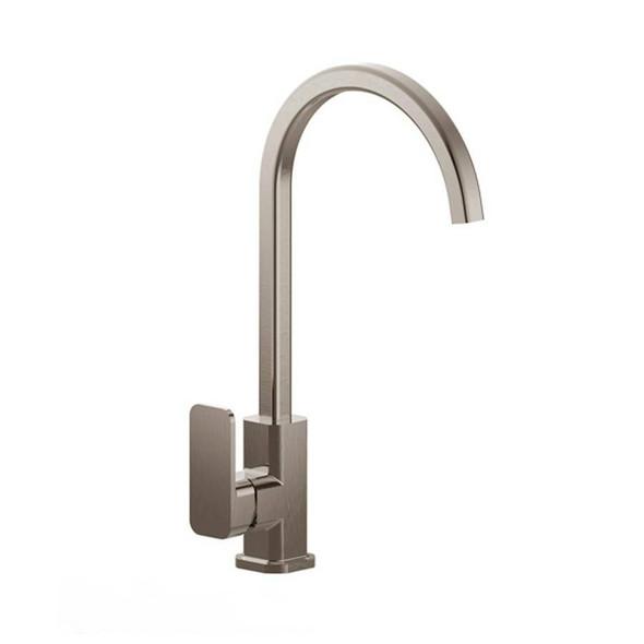 Fiona - Brushed Nickel Gooseneck Sink Mixer