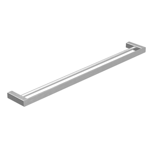 Fiona - Brushed Nickel Double Towel Rail 600mm