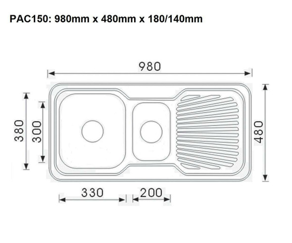 Pacific 150 - Inset Sink
