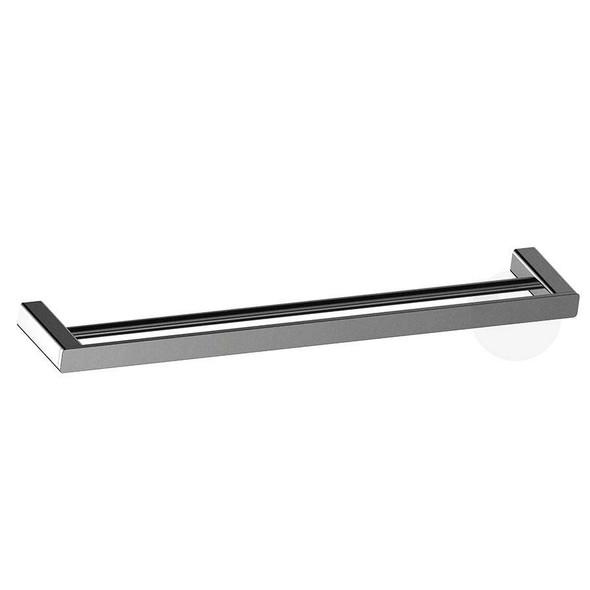 Fiona - Gun Metal Double Towel Rail 600mm