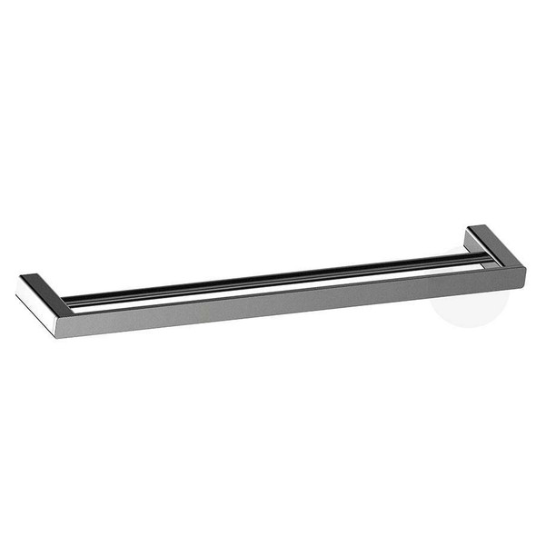 Fiona - Gun Metal Double Towel Rail 800mm
