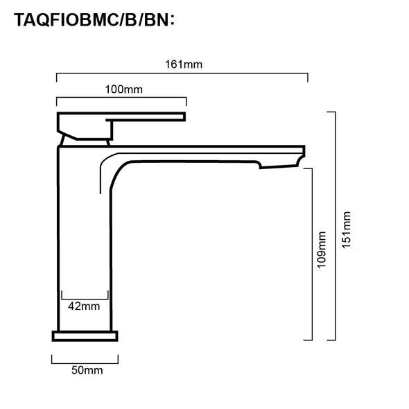 Fiona - Gun Metal Basin Mixer
