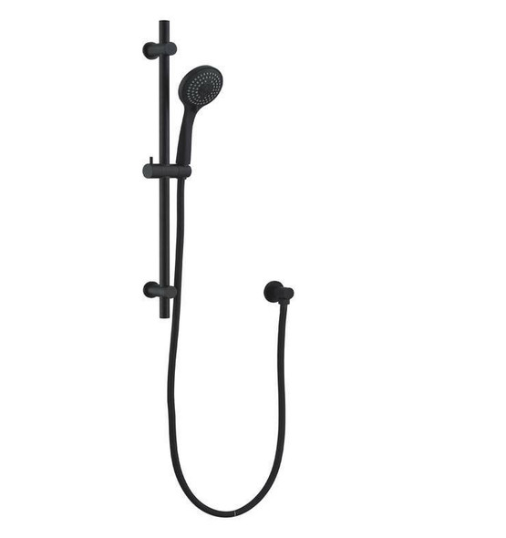 Boston - Black Shower Rail Set