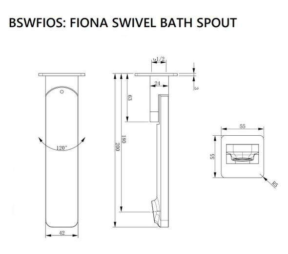 Fiona - Black Bathroom Swivel Spout